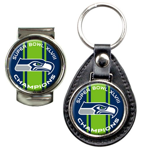 NFL Seattle Seahawks Super Bowl Champ Key Chain and Money Clip Set at Amazon.com