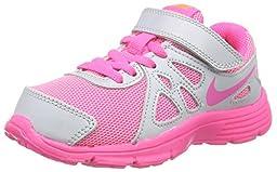 New Nike Girl\'s Revolution 2 Athletic Shoe Platinum/Pink Pow 1