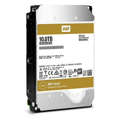 WD 3.5inc Gold 10TB キャッシュ 256MB SATA6Gb/s 7200rpm データセンター用HDD WD101KRYZ