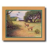 Dogs Hunting Birds # 3 Country Home Decor Wall Picture 16x20 Art Print