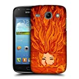 Head Case Designs Fire Deity Goddesses of Elements Protective Snap-on Hard Back Case Cover for Samsung Galaxy Core I8260 I8262