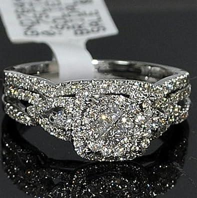 wedding ring woven full white