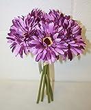 Lilac purple artificial gerbera bundle bouquet