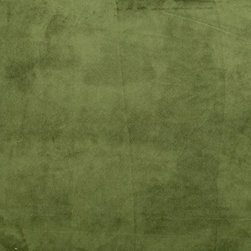 Olive Green Solid Minky Fabric Sold By The Yard front-762487