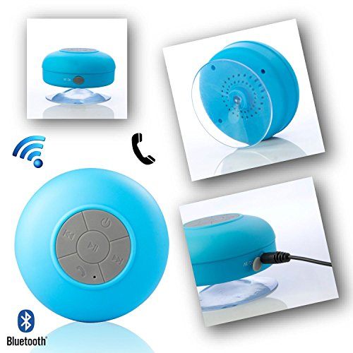 Waterproof Wireless Bluetooth Handsfree Mic Suction Mini Spe