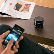 サンワダイレクト Bluetoothスピーカー ワイヤレススピーカー 小型 iPhone スマートフォン iPad 対応 Bluetooth4.0 ブラック 400-SP040BK