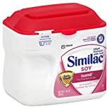 Similac Sensitive Isomil Soy Infant Formula, with Iron, Powder, Birth to 12 Months, 1.45 lb.