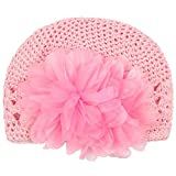 niceeshop(TM) Infant Toddler Girl Cute Crochet Flower Baby Knit Hat Cotton Cap,Pink