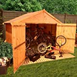 BillyOh 4' x 7' Apex Tongue and Groove Bike Store Mini Shed