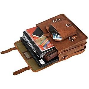 """91822e2241 Borsa a tracolla Gusti Leder""""Leon"""" in vera pelle Borsa ventiquattrore borsa  per laptop da uomo da donna in vera pelle marrone"""