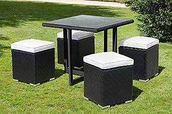 MY-Furniture - Conjunto Cubo Negro y Marfil Comedor