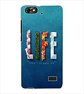 ColourCraft Stone Pattern Design Back Case Cover for HUAWEI HONOR 4C