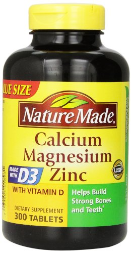 Nature Made Calcium Magnesium Zinc Tablets with Vitamin D, 300 Count