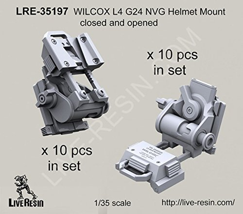 Live Resin 1:35 WILCOX L4 G24 NVG Helmet Mount Closed & Opened - Resin #LRE35197