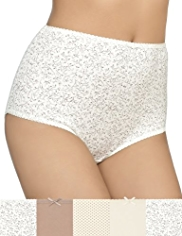 5 Pack Cotton Rich Swirl & Diamond Print Full Briefs