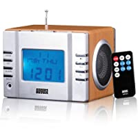 August Mb300 Cube Lecteur Mp3 Avec Radio Fm Et Reveil Lecteur De Carte Port Usb Et Entre Aux Prise Couteur 35 Mm 2 Haut-parleurs Hi-fi 3w Et Batterie Rechargeable Intgre Voir Offres Speciales Et Recevrez Un Cadeau Gratuit