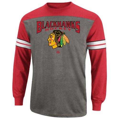 NHL Mens Chicago Blackhawks Ath Red/Ath Gray
