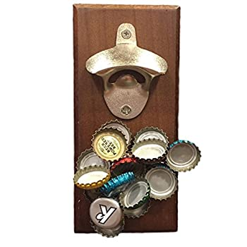 Wall Mounted Magnetic Bottle Opener - A Fun, Easy to Use Magnetic Bottle Opener for Your Fridge or Wall – The Cool Cap Catcher for Coke/Beer Bottles. Great Christmas gift. Bartenders Vintage Opener