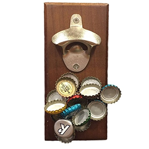 Wall Mounted Magnetic Bottle Opener - A Fun, Easy to Use Magnetic Bottle Opener for Your Fridge or Wall - The Cool Cap Catcher for Coke/Beer Bottles. Great Christmas gift. Bartenders Vintage Opener (Cocacola Wall Bottle Opener compare prices)