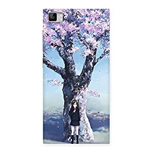 Cute Cherry Blossom Girl Back Case Cover for Xiaomi Mi3