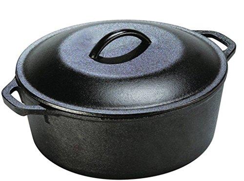 5 Qt Cast Iron Dutch Oven Pre-Seasoned Cookware Kitchen Pot Lid Home Camping New (Cast Iron Dutch Oven 5 Qt compare prices)