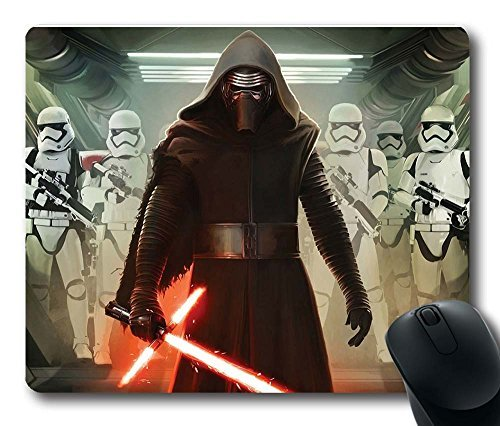 Gaming Mouse Pad, Customized MousePads Kylo Ren And First Order Stormtroopers Natural Non-Slip Eco Rubber Durable Design Computer Desk Stationery Accessories Gifts For Mouse Pads