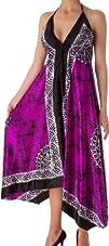 Veins Print Satin V-Neck Halter Handkerchief Hem Maxi  Long Dress