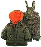 IXtreme Baby Boys Infant Camo Two Piece Snow suit Set, Olive, 24 Months
