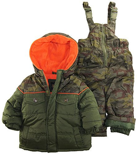 Ixtreme Baby Boys Infant Camo Two Piece Snowsuit Set, Olive, 12 Months front-1073060
