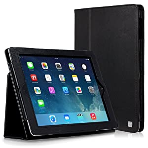 CaseCrown Bold Standby Case (Black) for iPad 4th Generation with Retina Display, iPad 3 & iPad 2 (Built-in magnet for sleep / wake feature)