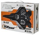 Top Race F22 Fighter Jet 4 Channel RC Remote Control Quad Copter RTF, Black