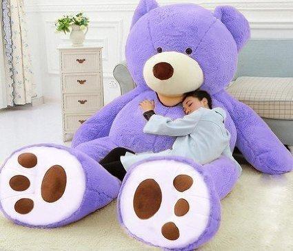 YunNasi Giant Teddy Bear American Huge Bear Lavender (51 inch, Purple) (Big Bear Chair compare prices)