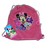 Licensed Disney 12.5 X 10.5 Sling Bag Net Front W/pvc Character (Minnie Mouse)