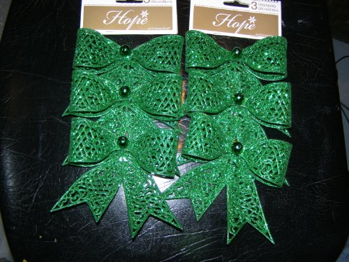 St. Patricks Day Bows Decorations 6 Total