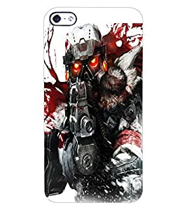 ColourCraft The Soldier Design Back Case Cover for APPLE IPHONE 4