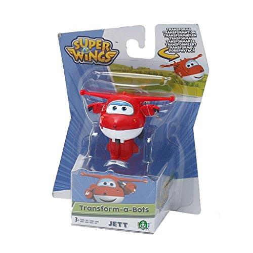 Giochi Preziosi - Jett, Aereo Robot Personaggio Trasformabile Articolato, Alto 5 cm