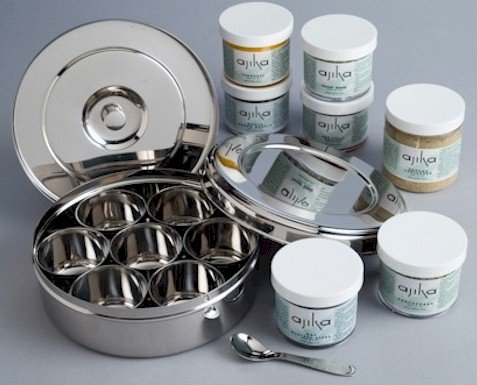 Italian Herbs & Spices (7) & Spice Box Stainless