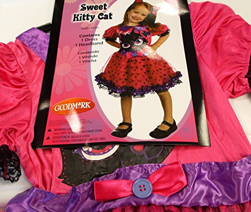 Sweet Kitty Cat Costume Dress Child L 10-12