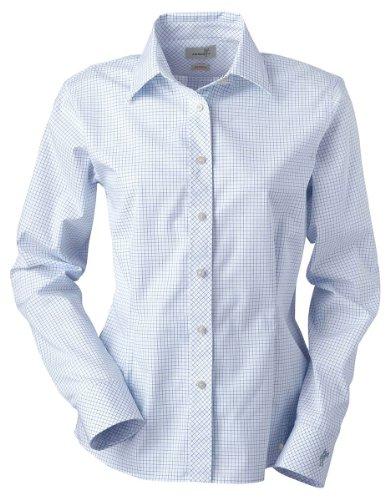 ashworth-7162c-ladies-ez-tech-check-pattern-woven-long-sleeve-shirts-medium-yacht-club