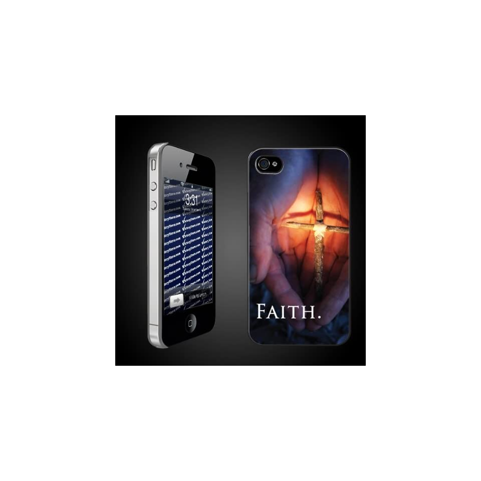 Christian/Religious Themed FAITH Hands   CLEAR iPhone Hard Case   Protective iPhone 4/iPhone 4S Case.
