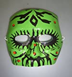 Plastic Green Monster Half Face Mask - Halloween/Fancy Dress (MI72)