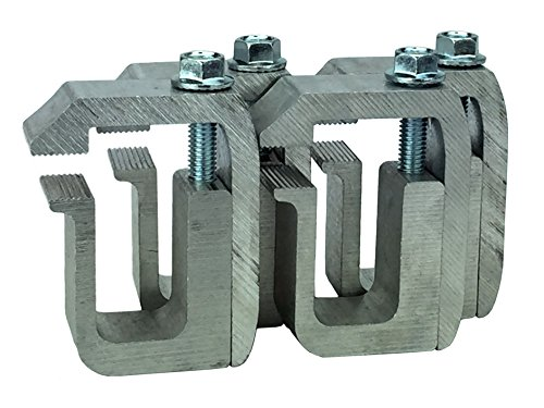 GCI Truck Cap / Camper Shell Clamps - Silver (set of 4) (Truck Bed Rail Clamps compare prices)
