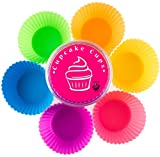 Sale! Globally Good® Silicone Baking Cups / Cupcake Liners - 12 Premium Reusable Muffin Molds in Storage Container