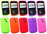 FLASH SUPERSTORE SAMSUNG CH@T CHAT 335 (S3350) BUNDLE OF 5 SILICON CASE/COVER/SKIN - LIME GREEN, PURPLE, ORANGE, RED AND HOT PINK