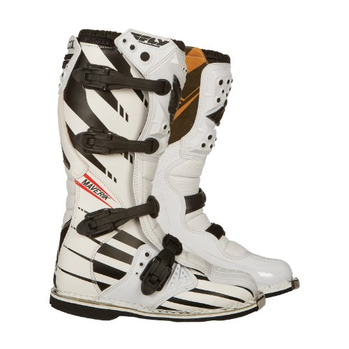 363-56704 - Fly Racing 2014 Youth Maverik F4 Motocross Boots US 4 White/Black (UK 3)