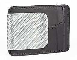 D15 Wallet Silver Texalium Fiber Wallet Black