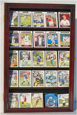 Display Case for Football Baseball Hockey Basketball Sports Trading Cards-MAHOGANY (CC01-MAH)