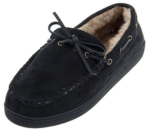 perry-ellis-mens-black-moccasin-slippers-xl-12-13