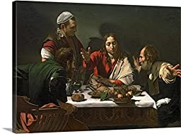 Michelangelo da Caravaggio Gallery-Wrapped Canvas entitled The Supper at Emmaus, 1601 (oil and tempera on canvas)