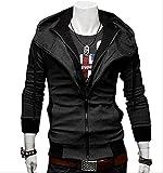 (アルファーフープ) α-HOOP メンズファッション ジャケット フード 付き ジップアップ パーカー 大きいサイズ M ~ XXL 大人 男性 用 アウター a20a (07.深灰(XL))…